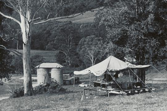 Richard Leplastrier, Office Encampment, Wyong House, Wyong, Australia, 1976